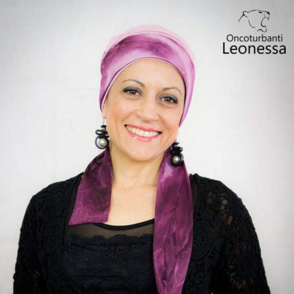 oncoturbanti-leonessa-bandane-turbanti-chemio-cancro-alyssia-nero-rosa