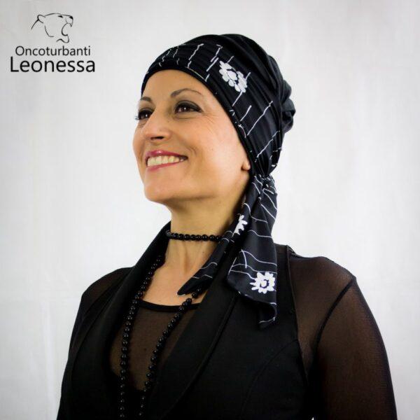 oncoturbanti-leonessa-bandane-turbanti-chemio-cancro-alyssia-nero