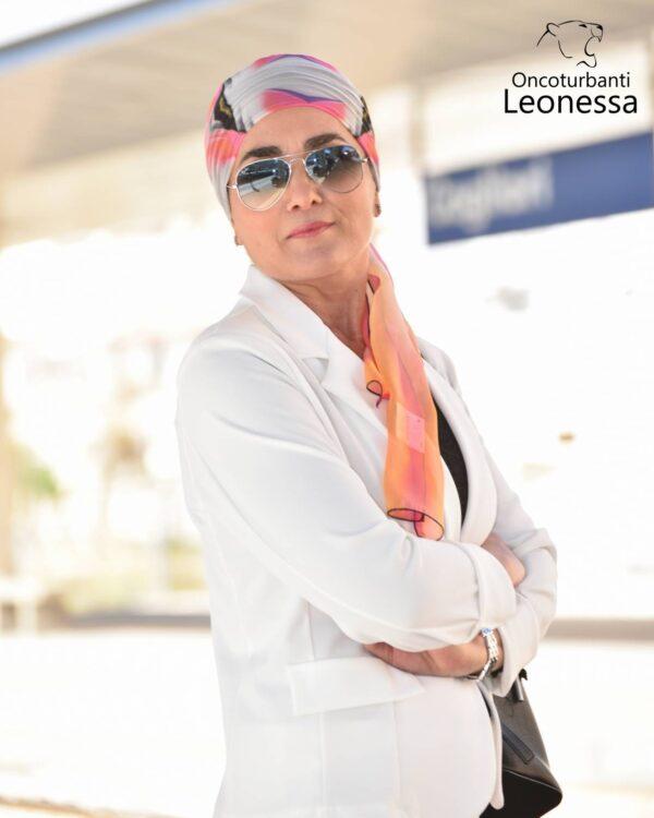 oncoturbanti-leonessa-bandane-turbanti-chemio-cancro-caroline-bianco
