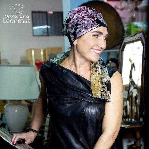 oncoturbanti-leonessa-bandane-turbanti-chemio-cancro-caroline-nero