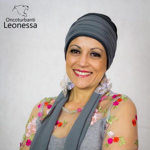 oncoturbanti-leonessa-bandane-turbanti-chemio-cancro-marica-grigio