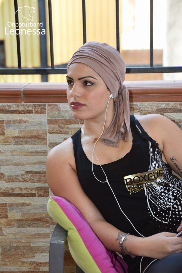 oncoturbanti-leonessa-bandane-turbanti-chemio-cancro-nabel-beige-chiaro