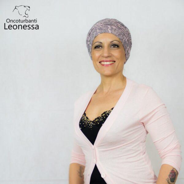 oncoturbanti-leonessa-bandane-turbanti-chemio-cancro-sousse-rosa-nero