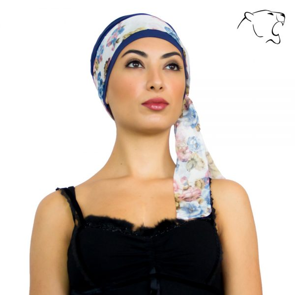 oncoturbanti-leonessa-alyssia-fiori-rosa-blu