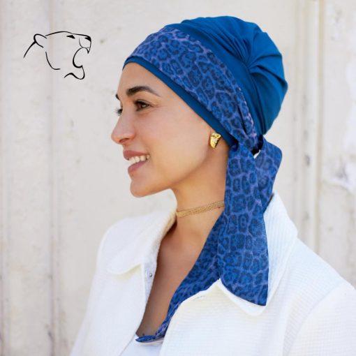 oncoturbanti-leonessa-bandane-turbanti-chemio-cancro-alyssia-blu-maculato-n-01