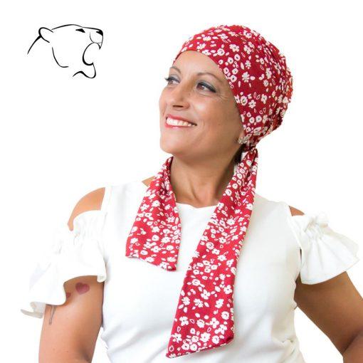 turbante-chemio-oncoturbanti-leonessa-annabel-rosso-bianco-02