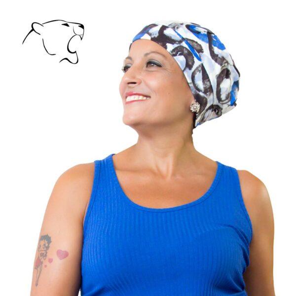 turbante-chemio-oncoturbanti-leonessa-baschetto-ianco-blu-02